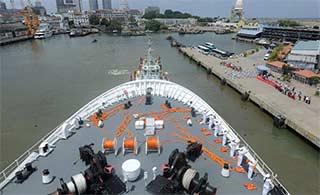 和平方舟号离斯里兰卡前往亚丁湾