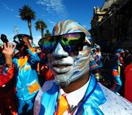 2017年1月2日,南非开普敦,吟游诗人游行。