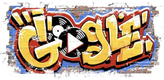谷歌HIP-HOP风格涂鸦纪念嘻哈文化诞生