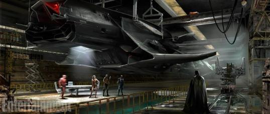 《正义联盟》概念图曝光蝙蝠侠大型飞行器