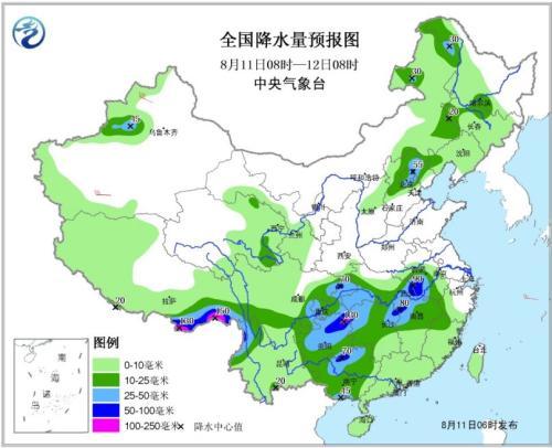 贵州广西至江淮黄淮有强降雨 华北东北地区多雷阵雨