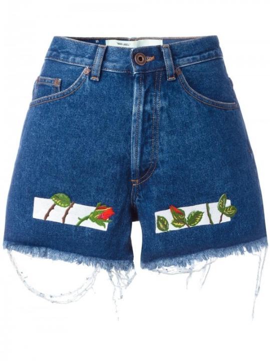 OFF-WHITE 刺绣牛仔短裤¥3,037