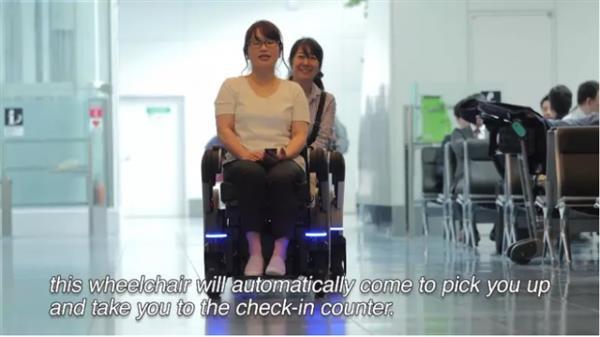 日本多奇志:松下推出会跳的轮椅