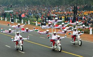 印军阅兵回顾摩托车战力最强?