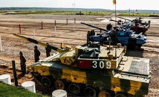 坦克两项决赛俄罗斯夺冠 比赛精彩过程回顾