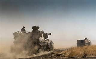 以色列炮兵部队演练浓浓大片感