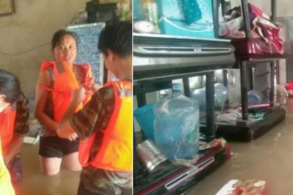 湖北大冶一乡镇遭洪水围困 疏散转移300余村民