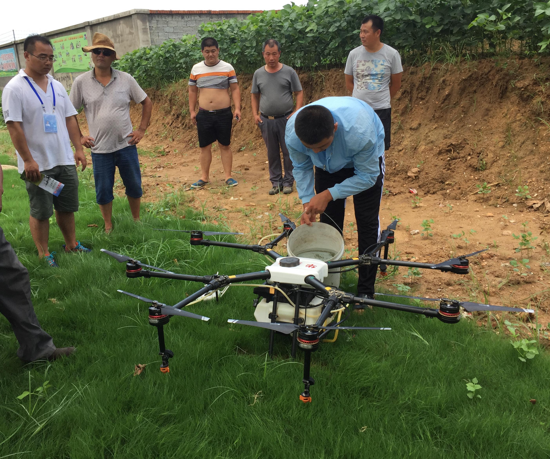 赣榆:大力推广植保无人机飞防技术