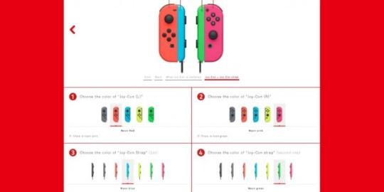 日本任天堂为Switch客户提供手柄配色指定服务