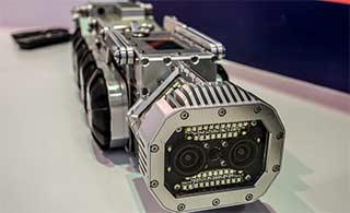 搜索机器人外形酷似导弹运输车