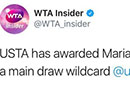 莎娃获美网正赛外卡 继去年澳网后首战大满贯比赛