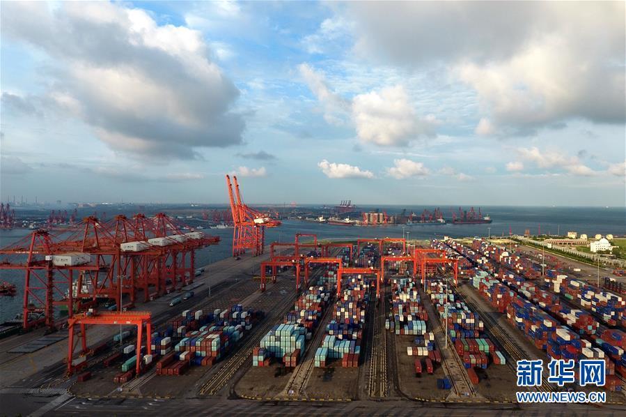 航拍:河北省港口1至7月货物吞吐量超6亿吨