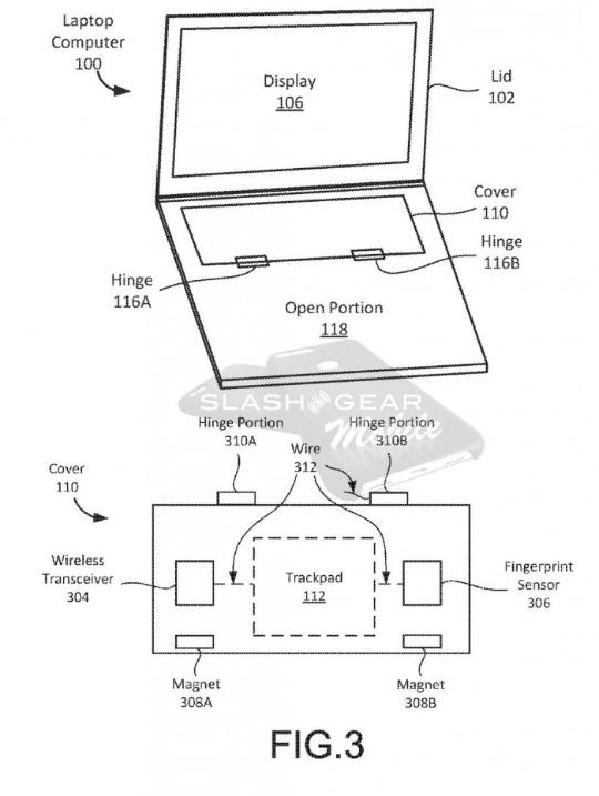 谷歌笔记本新专利:磁性铰链可覆盖键盘