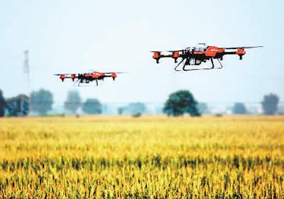 乌鲁木齐使用无人机大面积防治虫害