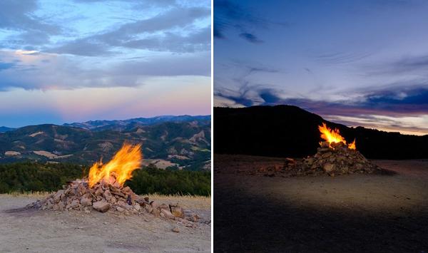 火焰喷泉!意大利最小火山火焰日夜不息