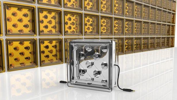 新型玻璃砖可发电