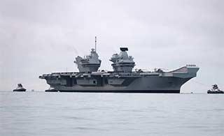 英国唯一航母完成海试返回英国