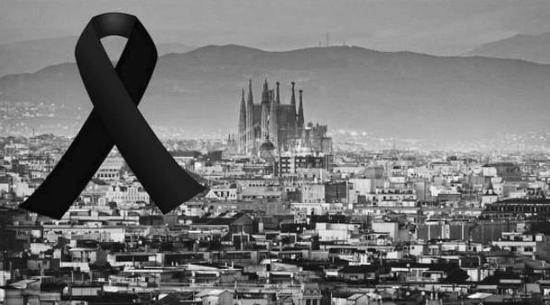 梅西C罗哀悼恐袭遇难者 内马尔:巴塞罗那,我爱你!