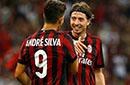欧联附加赛-新9号2球蒙托利沃2球 米兰6-0狂胜弱旅