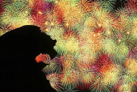 璀璨夺目!日本举行盛大烟花展