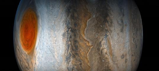 壮丽的木星大红斑照