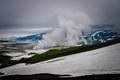 俄罗斯勘察加穆特诺夫火山 烟雾蒸腾风景独特