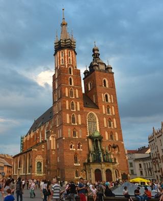 波兰旧都克拉科夫 欧洲最美丽的圆心