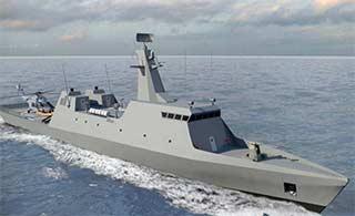 以色列概念轻型护卫舰造型科幻