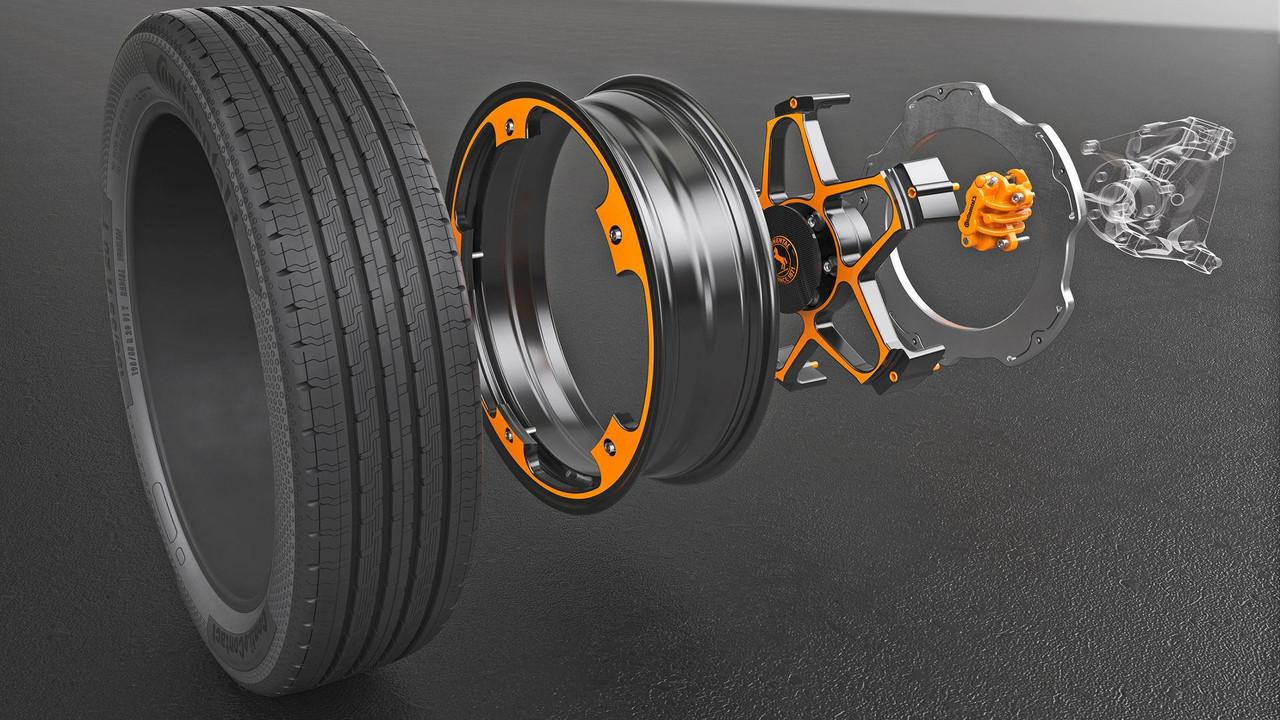 大陆集团公布创新概念车轮设计 专用于电动汽车