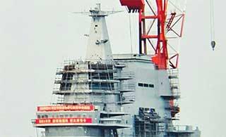 国产航母安装雷达高清图曝光