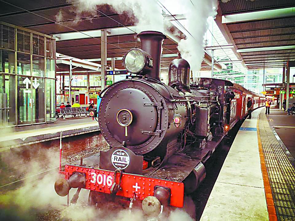 """蒸汽火车 悉尼的""""活文物"""""""
