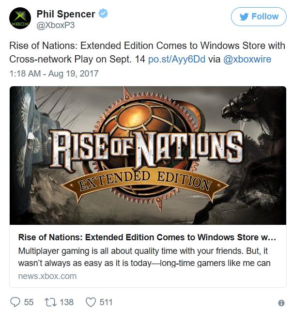 经典RTS《国家的崛起:扩展版》登陆Win 10