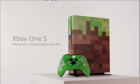 微软推出Minecraft版Xbox One S