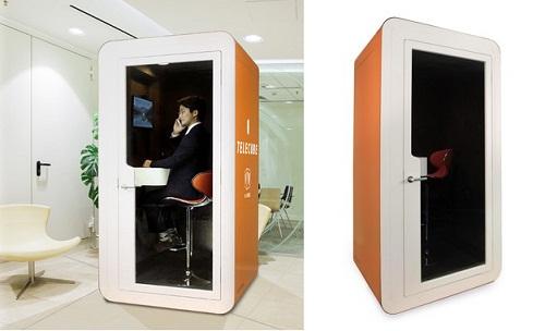 """远程办公时代,电话亭重新兴起?带您一览全新 """"单人工作间"""""""