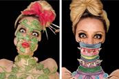 化妆师诡异妆容惊悚无比