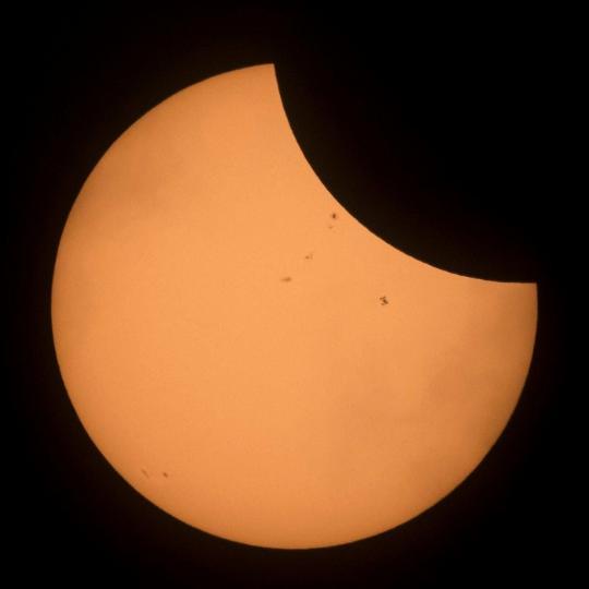 """NASA分享""""2017北美大日食""""靓照"""
