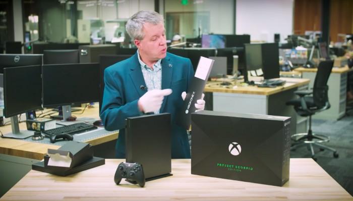"""微软Xbox One X""""天蝎计划""""首发版官方开箱"""