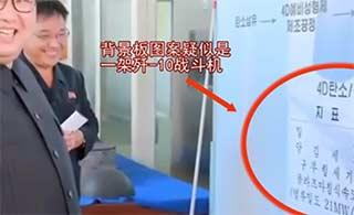 朝最高领导人视察疑歼10身影出现
