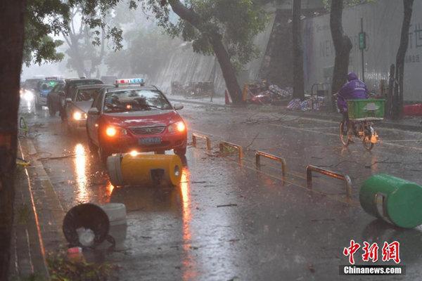 """强台风""""天鸽""""登陆广东珠海 4省区将遭狂风暴雨"""