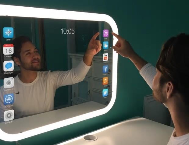 可定制浴室智能镜子 全触控屏改变你的生活方式