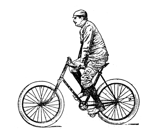 真实单车简笔画步骤