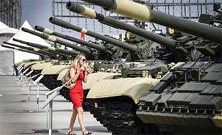 俄国际军事技术展览展品很丰富