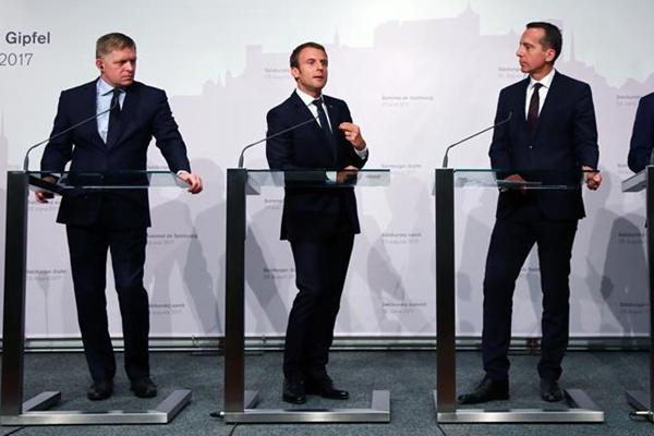 法国总统呼吁改革欧盟劳务派遣制度(组图)