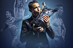 C罗力压梅西布冯蝉联欧洲最佳球员