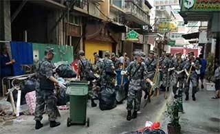 驻澳部队参与台风救灾工作