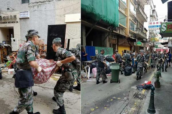 人民子弟兵来了!解放军驻澳部队抵达灾区救援