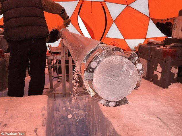 南极270万年前冰芯被挖出 科研领头人打算挖更多
