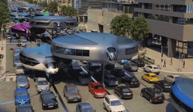"""俄罗斯公司设计单轨""""飞碟""""或成为未来出行方式"""