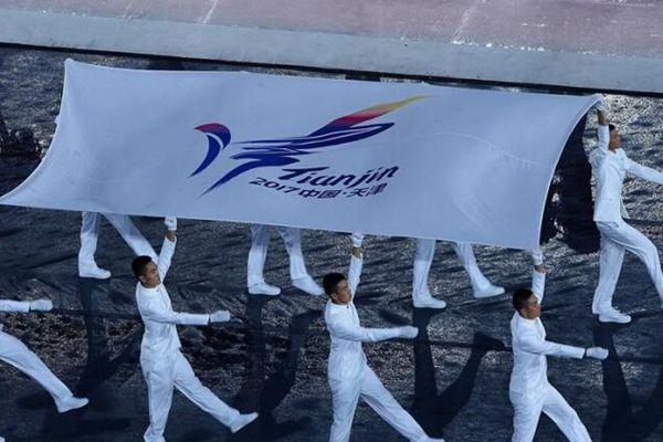 第十三届全运会开幕式举行 孙杨丁宁亮相