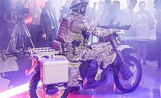 俄展示战术越野电动摩托车